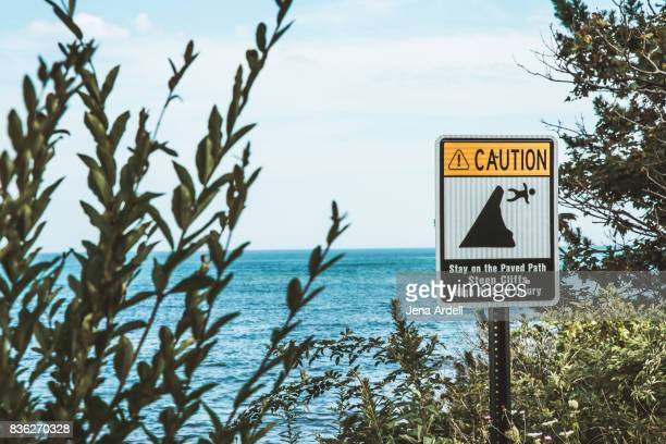 Caution Sign Cliff