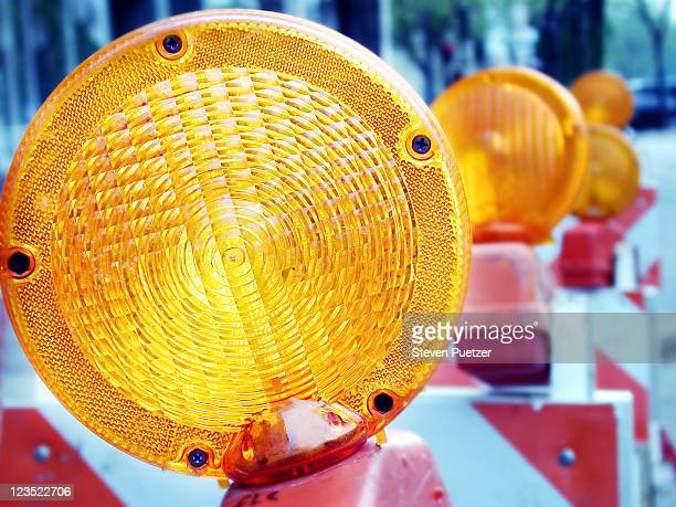 caution sign light - barricade stock pictures, royalty-free photos & images