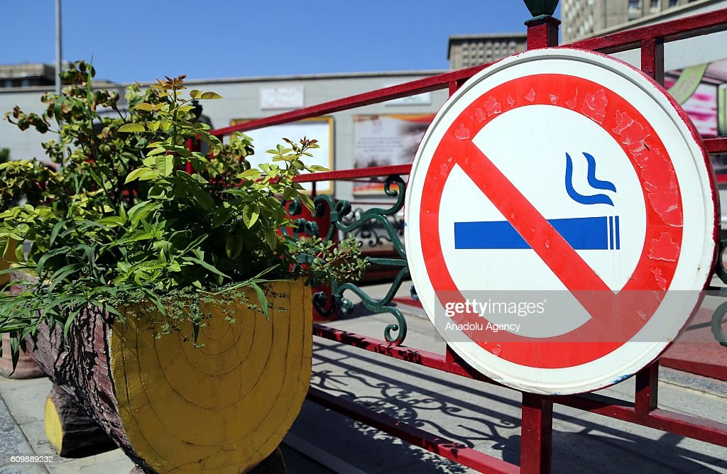 Smoking ban in public spaces in Iran : News Photo