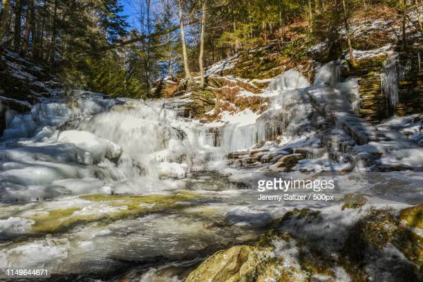 caution, steps may be slippery - sullivan county pennsylvania stock pictures, royalty-free photos & images