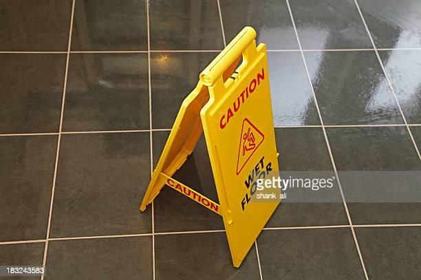 caution wet floor
