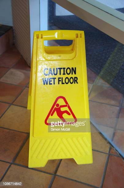 Caution Wet Floor Stock Photos And Pictures Getty Images
