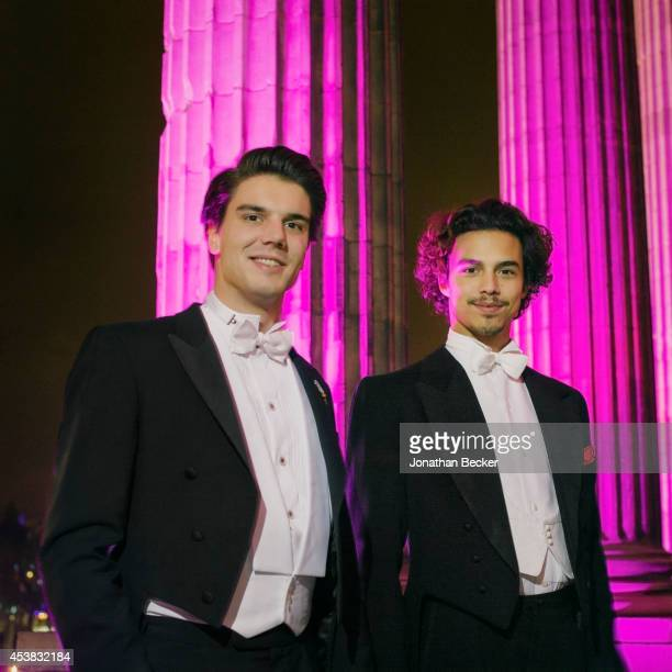 Cavaliers HRH Prince Amaury of BourbonParma of France and Marquis Giorgio Sanjust di Teulada of Italy are photographed for Vanity Fair Magazine on...