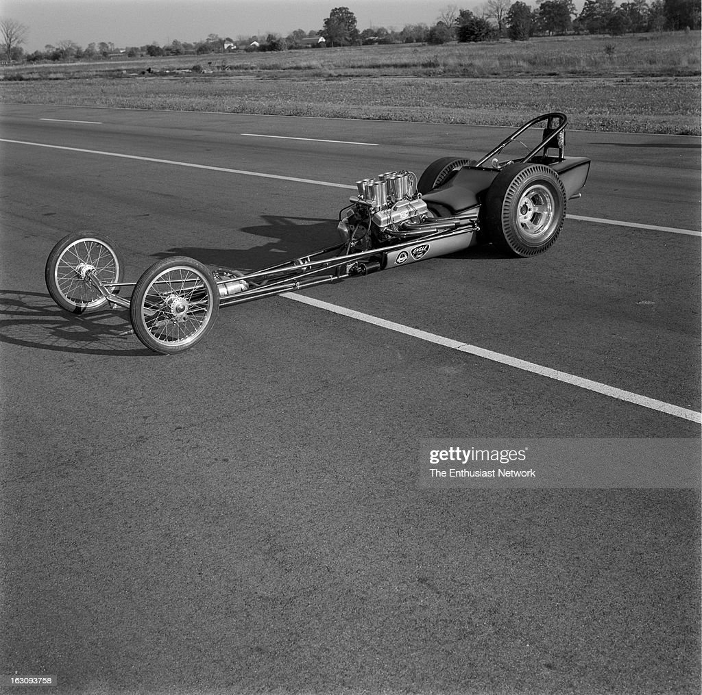Cavallaro Chevrolet - Injected Rail Dragster with pie crust slicks