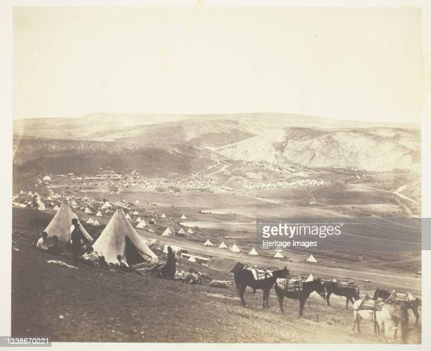 Cavalry Camp, Balaklava, 1855. A work made of salted paper print, from the album 'photographic pictures of the seat of war in the crimea' . Artist...