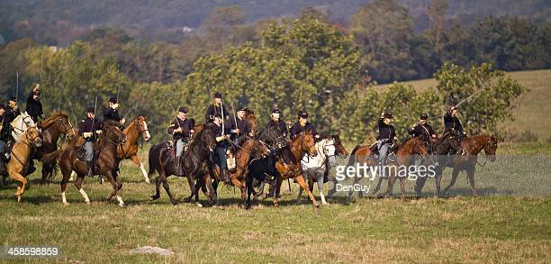 us cavalry in the shenandoah valley virginia civil war - cavalry stock pictures, royalty-free photos & images
