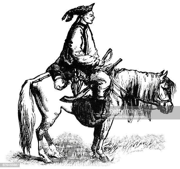 Cavalryman China 'Classical Portfolio of Primitive Carriers' by Marshall M Kirman World Railway Publ Co Illustration 1895