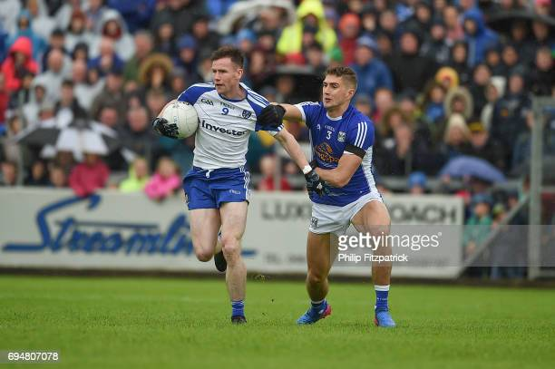 Cavan Ireland 11 June 2017 Killian Clarke left of Cavan in action against Karl O'Connell of Monaghan during the Ulster GAA Football Senior...