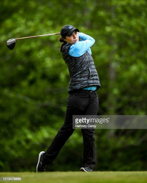 Cavan Ireland 18 May 2020 Club member and former professional golfer Lisa Maguire during a round of golf at Slieve Russell Golf Club in Cavan as it...