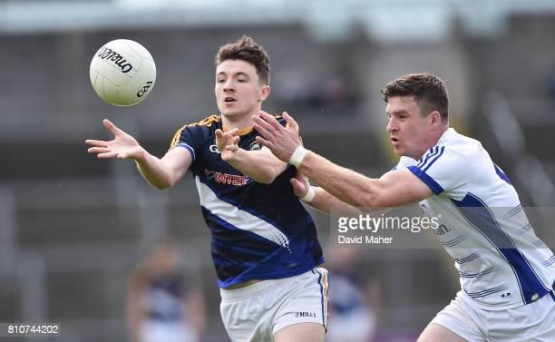 Cavan Ireland 8 July 2017 Jack Kennedy of Tipperary in action against Tomas Corr of Cavan during the GAA Football AllIreland Senior Championship...