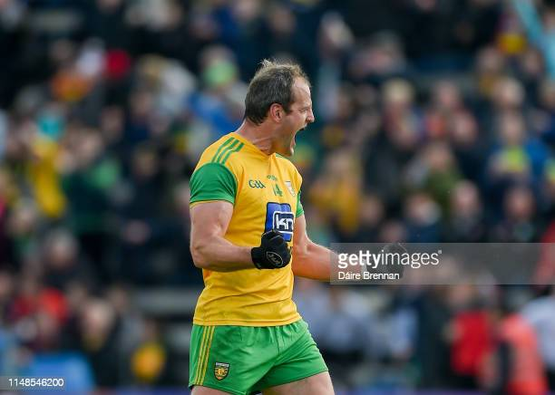 Cavan Ireland 8 June 2019 Michael Murphy of Donegal celebrates after the Ulster GAA Football Senior Championship semifinal match between Donegal and...