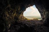 Cave at Navarino castle, Greece