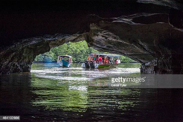 A cave at the Kilim Karst Geoforest Park on Langkawi an island in north West Malaysia Formed more than half a billion years ago Langkawi has a unique...