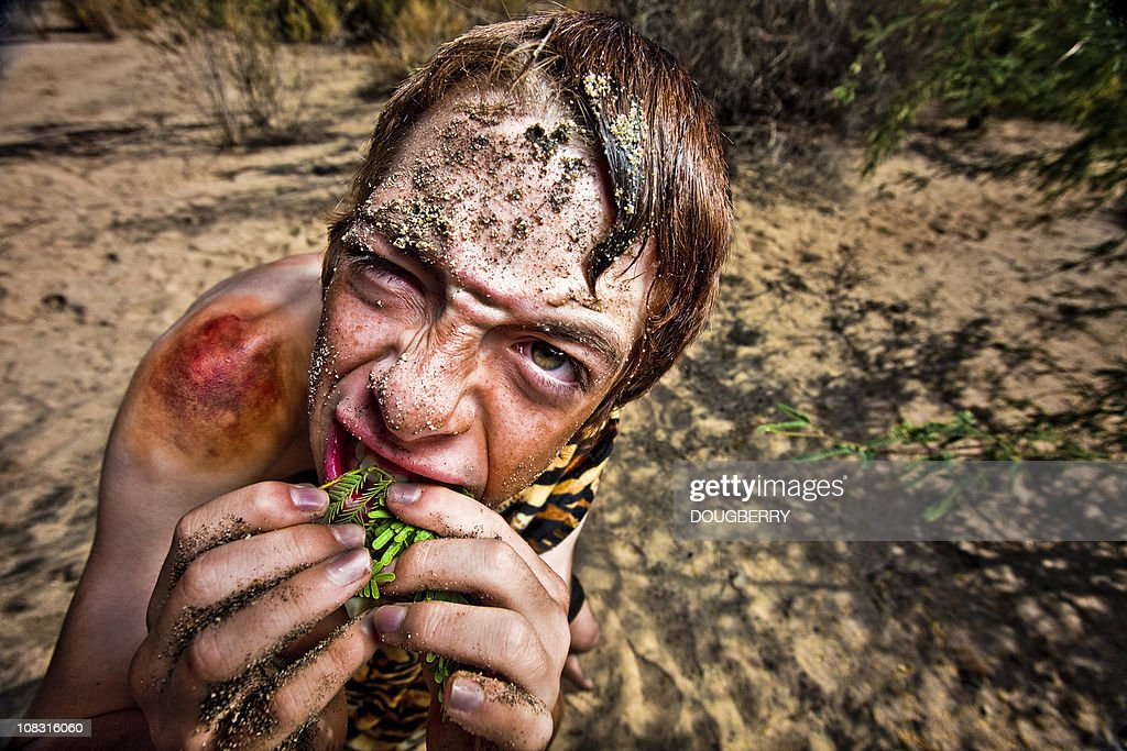 Cave Boy : Stock Photo