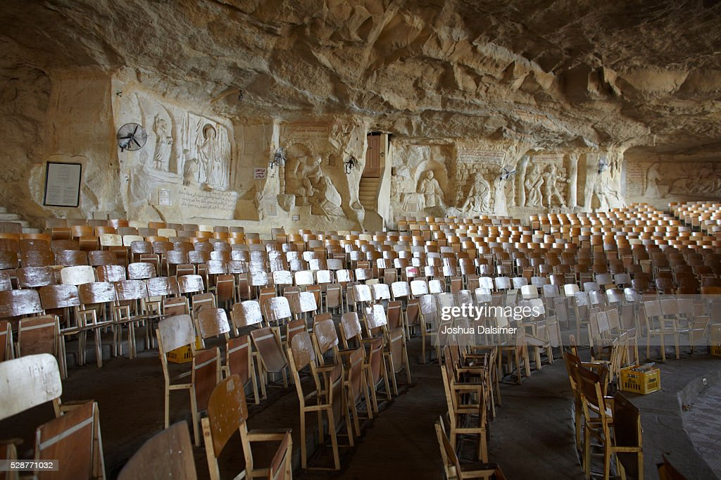 Cave church in al Mokattam mountain in Cairo : Stock Photo