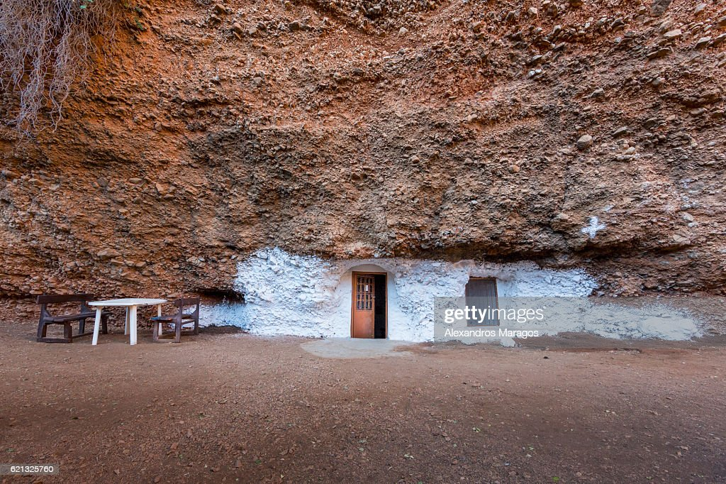 Cave church in Greece : Stock Photo
