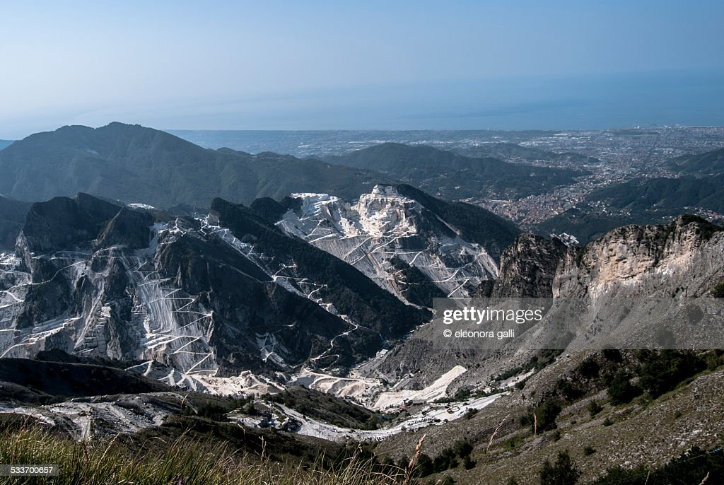 Cave di Carrara : Foto stock