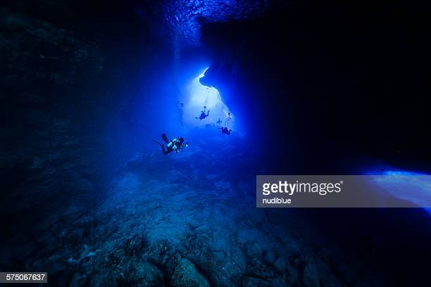 cave diving, gurotto saipan - grotto stock pictures, royalty-free photos & images