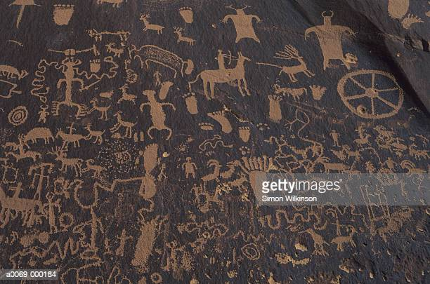 cave drawings - time to hunt stock pictures, royalty-free photos & images