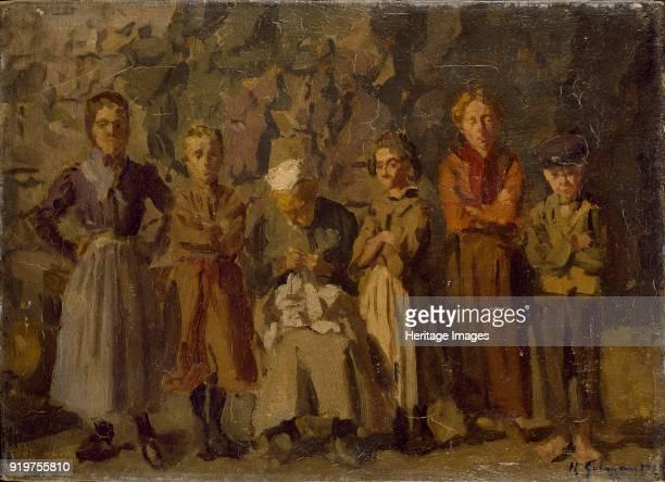 Cave Dwellers, Dieppe, 1907. Artist Harold Gilman.