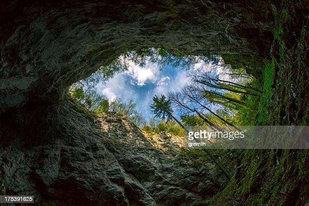 Cueva fisheye tiro, Skocjan las cuevas, Eslovenia