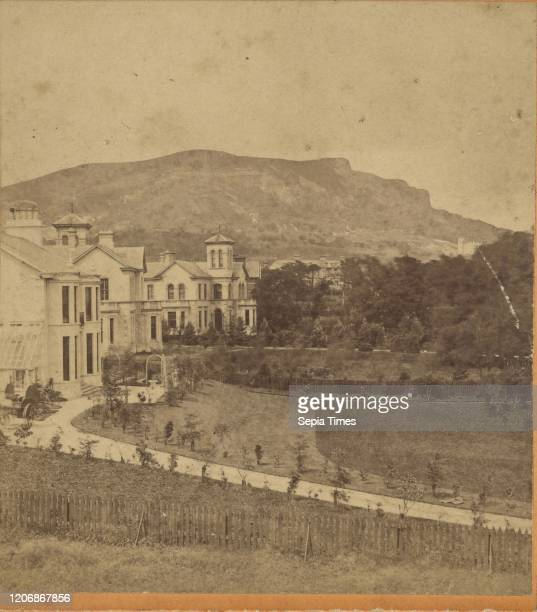 Cave Hill Belfast showing features of Napoleon 1st, William M. Lawrence , 1870s, Albumen silver print.