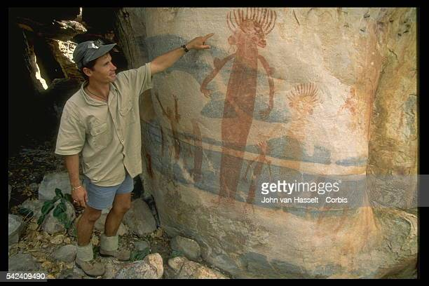Cave paintings by Australian Aboriginals in the Kakadu National Park Aboriginal people have occupied the Kakadu area continuously for at least 40 000...