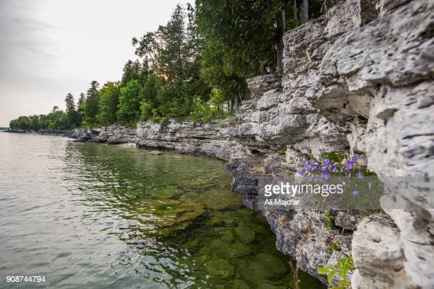 cave point county park - green bay wisconsin imagens e fotografias de stock