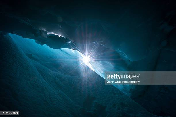 cave star - crevasse stock photos and pictures