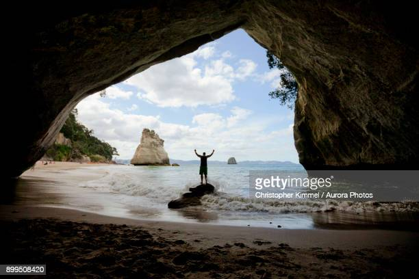 Cave Tunnel Rock at Cathedral Cove, Hahei, Coromandel, New Zealand