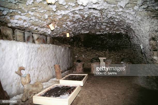 Cave where mammoth bones are preserved Igarka Siberia Russia
