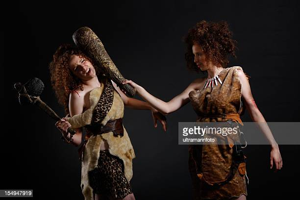 cave woman - cavewoman stock pictures, royalty-free photos & images