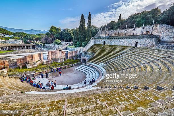 Cavea (auditorium) of theatre,Pompeii