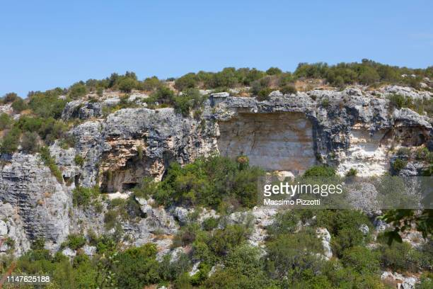 Caved Rocks in the archeological site of Ispica, Sicily