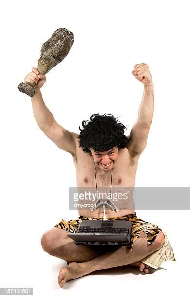 caveman success - caveman stock pictures, royalty-free photos & images
