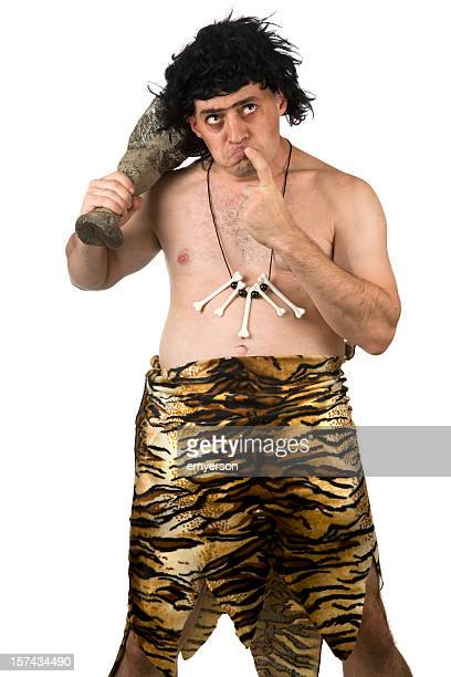 caveman thinking - caveman stock photos and pictures