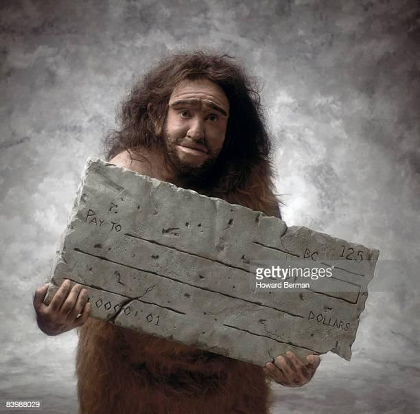 Caveman with Check