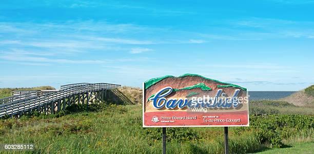 Cavendish Beach sign in  Prince Edward National Park  Beach ,  Boardwalk