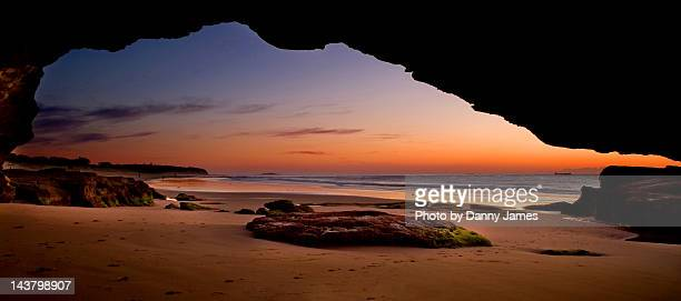 Caves beach panorama