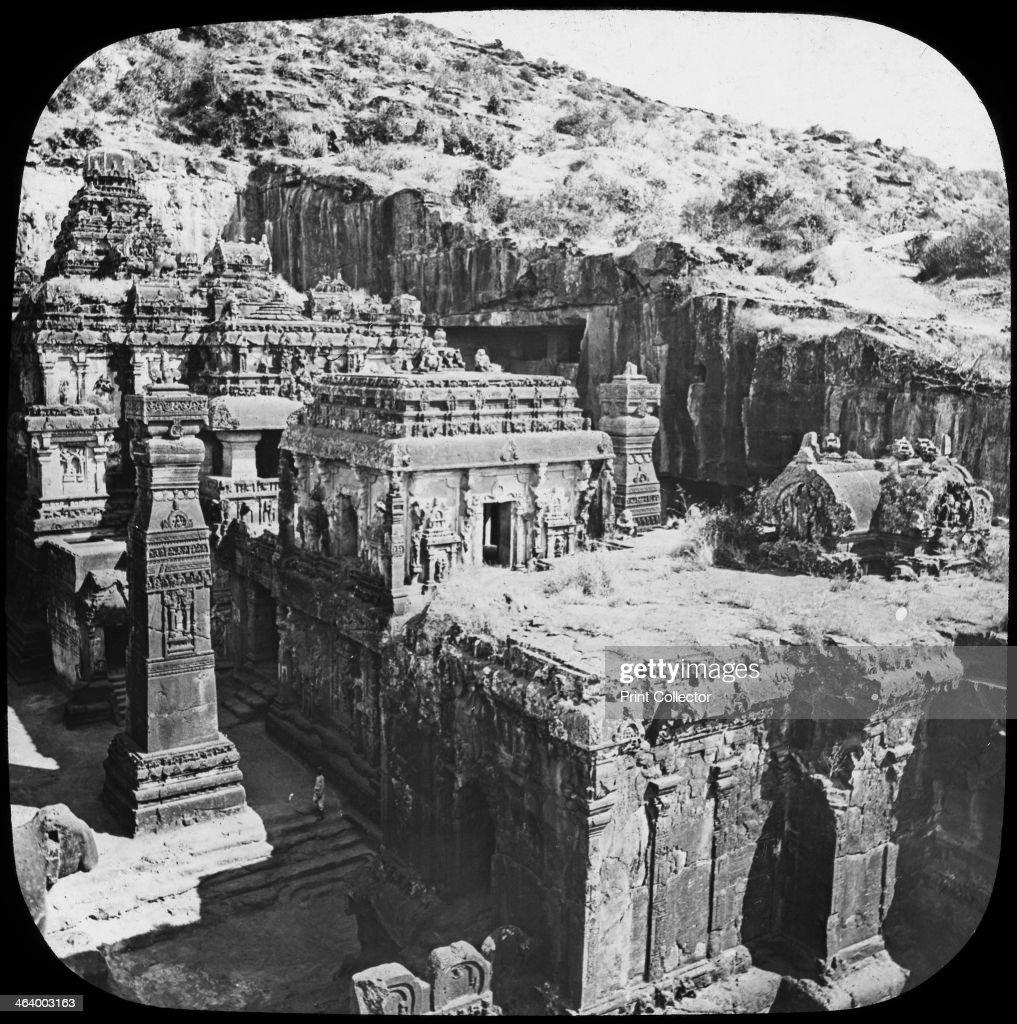 Caves of Ellora, Maharashtra, India, late 19th or early 20th century. : News Photo