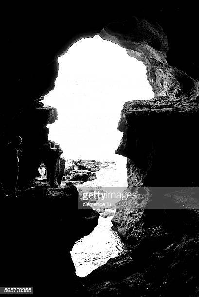 caves of hercules, tangier morocco - mythological character stock pictures, royalty-free photos & images