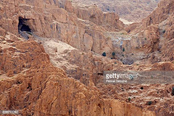 Caves of the Dead Sea Scrolls in Qumran.