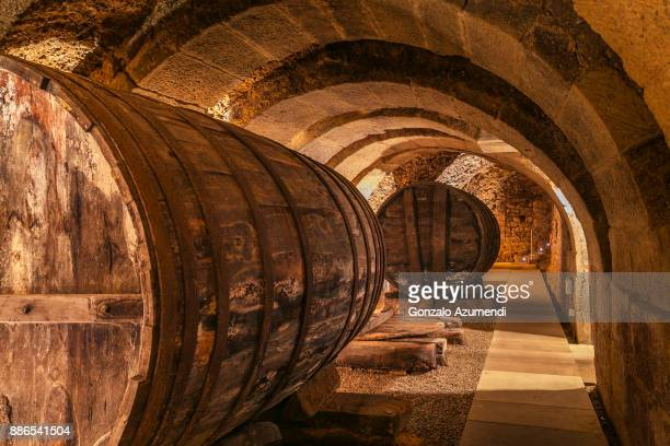 Caves or family wine cellars in Rioja Alavesa.