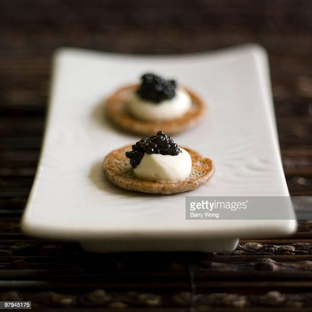 caviar on blini
