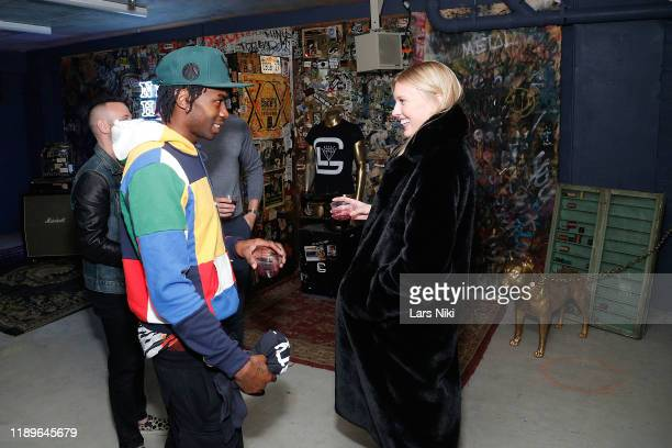 Cavier Coleman and Juliana Schurig attend the private opening of the Good Luck Dry Cleaners Bowery location at 3 East 3rd on December 19 2019 in New...