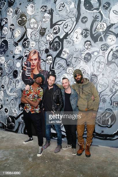 Cavier Coleman Jeremy Penn Phil Reese and JD Barnes attend the private opening of the Good Luck Dry Cleaners Bowery location at 3 East 3rd on...