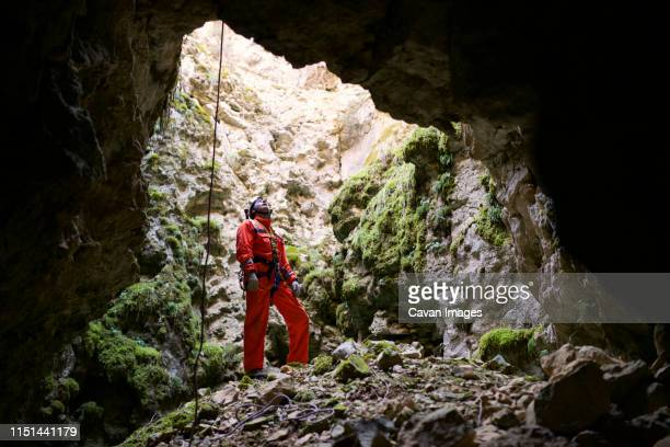 caving in spain - speleology stock pictures, royalty-free photos & images