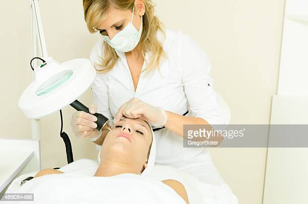 cavitation treatmen - medical laser stock photos and pictures