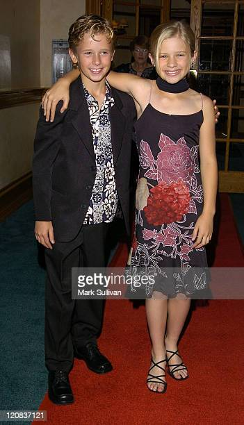 Cayden Boyd and Jenna Boyd during Young Artist AwardsArrivals at The Sportsmen's Lodge in Studio City California United States