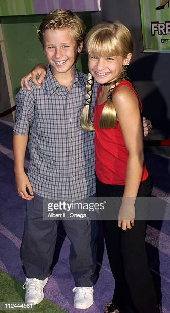 Cayden Boyd and sister during Premiere of 'Freaky Friday' at El Capitan Theater in Hollywood California United States